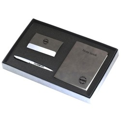 3 Piece Gift Set Card Holder Pen And Notebook