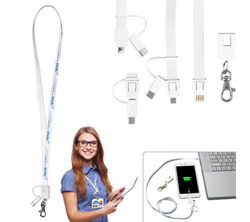 Lanyard With USB Cable