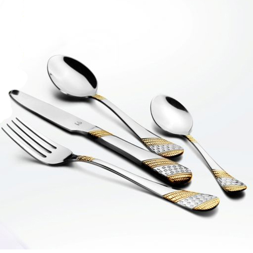 Imperio 22 Carat gold Plated Cutlery Set