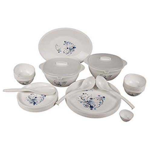 Dinner Set 34 Pieces Round Printed