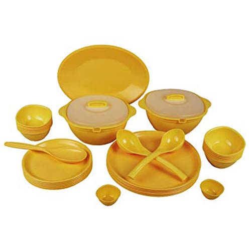 Dinner Set 34 Pieces Round Plain