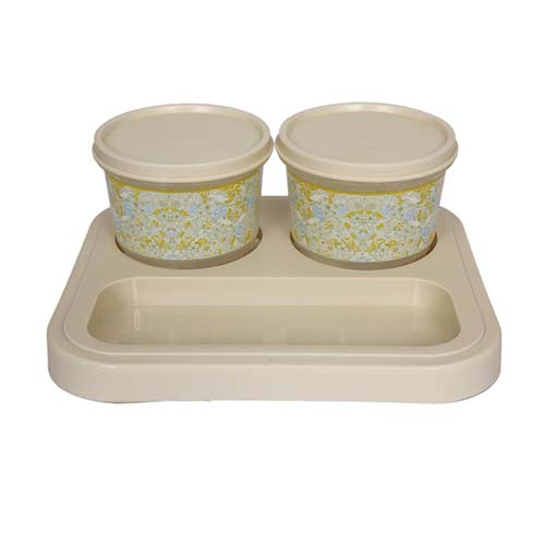 Serve 2 Bowl Tray Serving Set