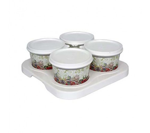 Serve 4 Bowl Tray Serving Set
