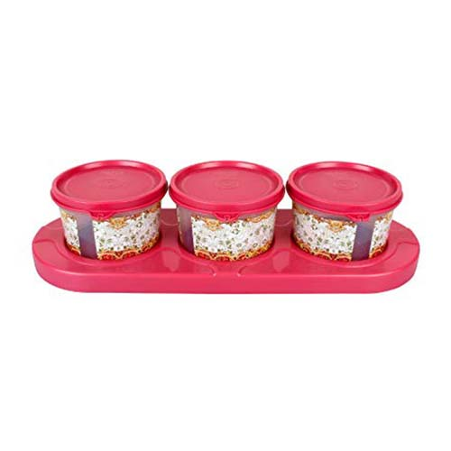 Serve 3 Bowl Tray Serving Set