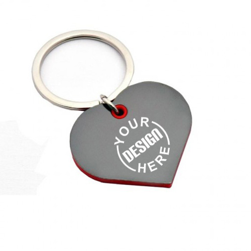 Heart Shape Keychain with Highlights