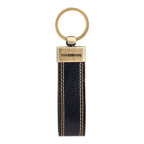 Keychain Leather Metal