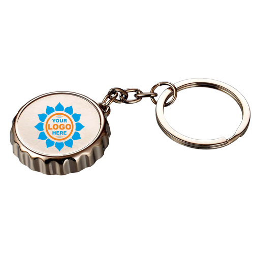Crown shape Metal keychain with bottle opener