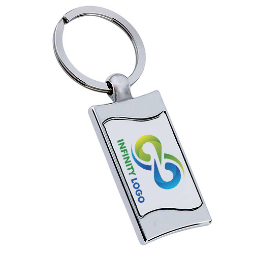 Wave Metal Keychain