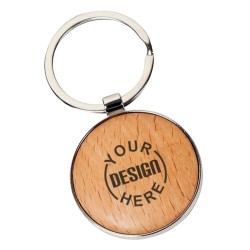Wooden Round Shape Key Ring