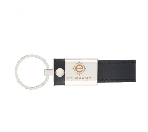 Keychain Metallic Leather