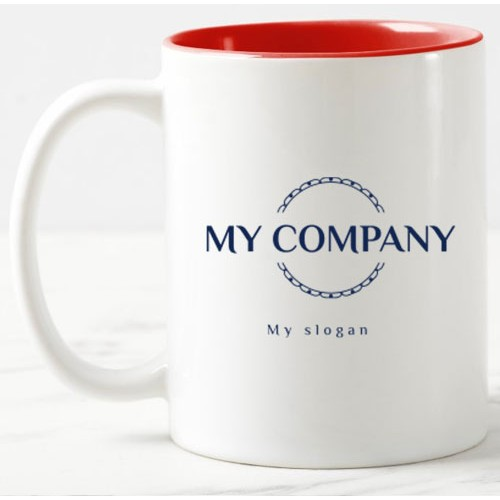 Personalized Dual Tone Coffee Mugs