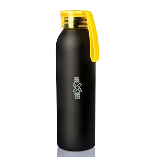 Metal water bottle black body