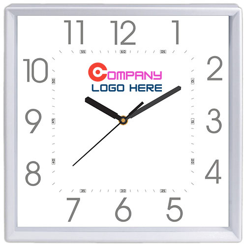 Simple Square Shape Wall Clock