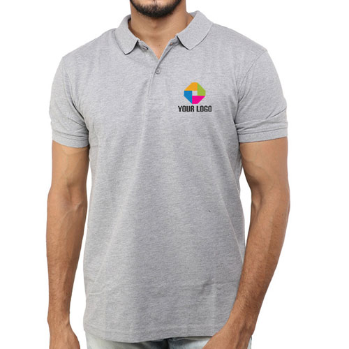 Parx Grey Solid Polo T-Shirt
