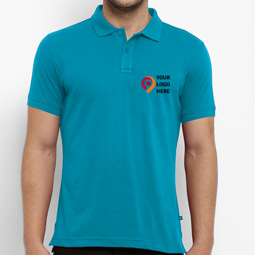 Parx Turquoise Solid Polo T-Shirt