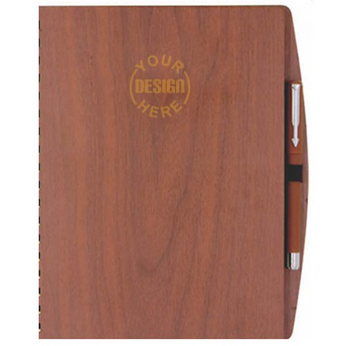 Wooden Cover Personalized Diary