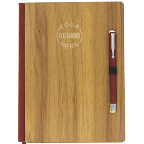 Personalized Wooden Cover Diary