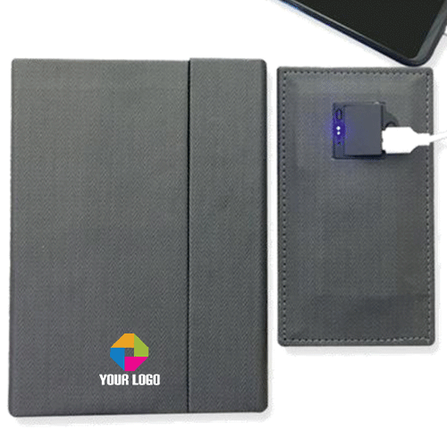 Notebook with 5000 mAh Power Bank
