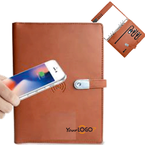 Wireless Diary USB Power Bank 5000