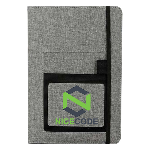 A5 notebook with mobile pocket