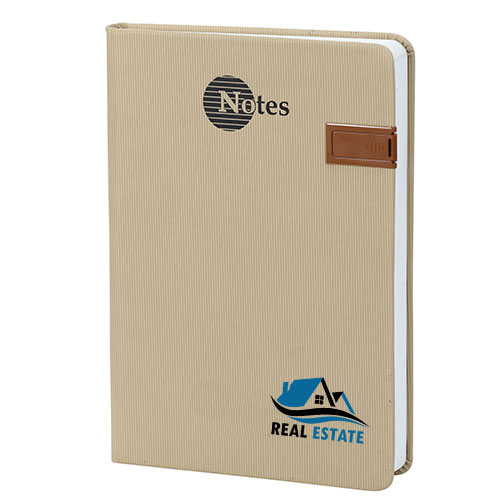 Customized Golden USB Notebook