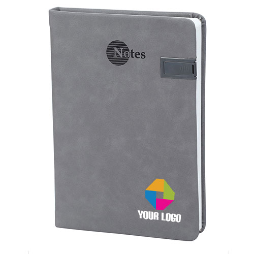 Customized Gray USB Notebook