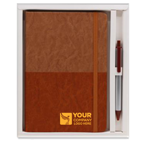 Double Color Notebook with Pen