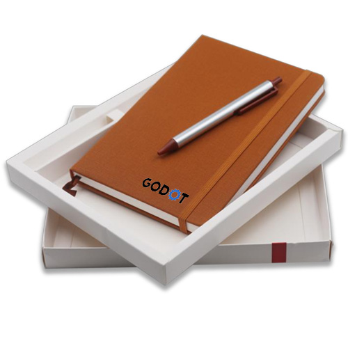 Elastic Notebook with Pen Set