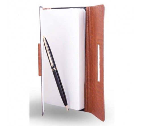 Leatherette Notebook with Pen