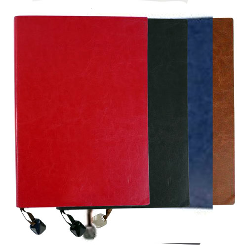 Notebook with Magnetic Metal Plate Bookmark