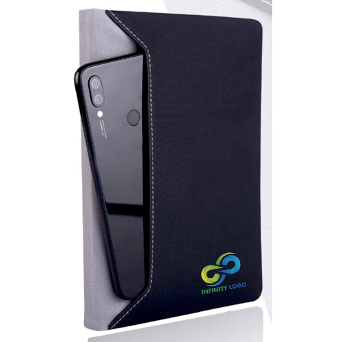 Notebook with Mobile Pocket
