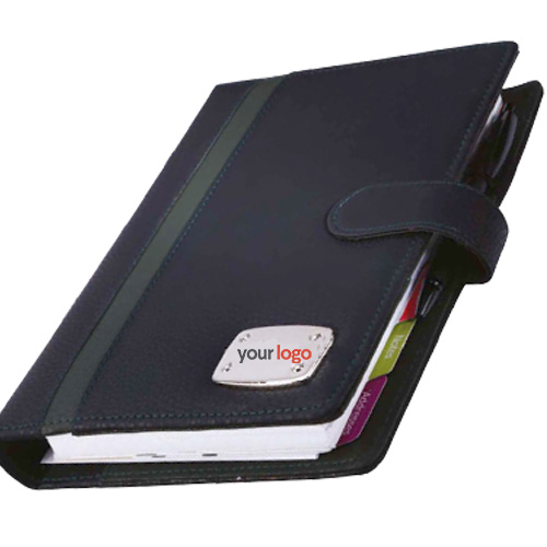 Black Green Leatherite Executive Organiser