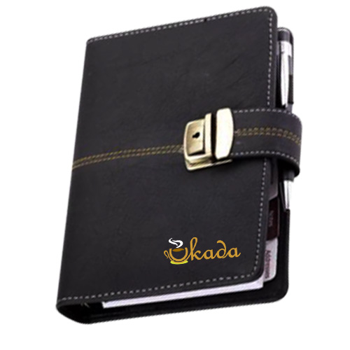 Black Leatherite Business Organiser