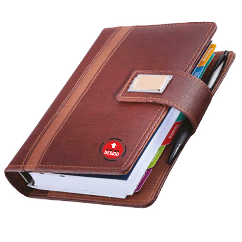 Gold Fitting Leatherite Business Organiser