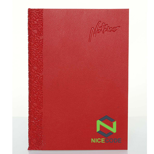 PU notebook with alphabet design