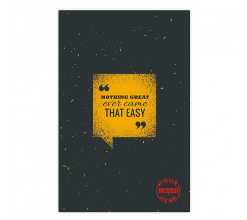 Nothing Great Ever Notebook
