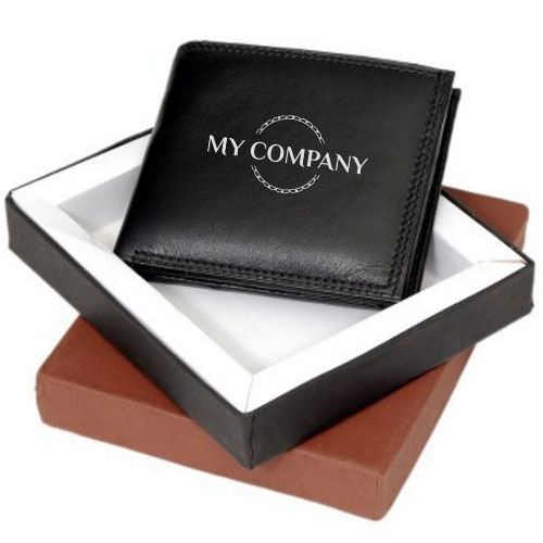 Customized Black Leather Wallet