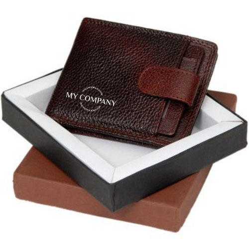 Customized NDM Leather Designed Brown Wallet
