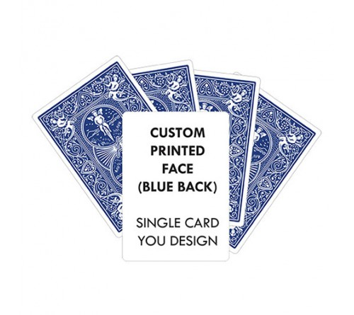 Customized Bule Color Playing Card