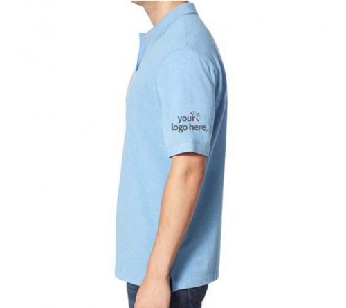 Blended Fabric Polo T-Shirts