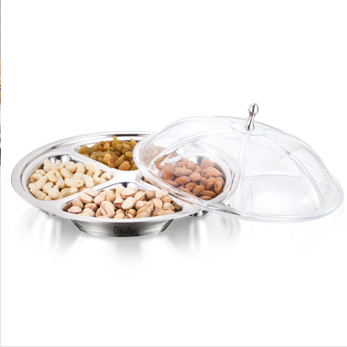 Sanjeev Kapoor Crown SS 4 Section Serving Set