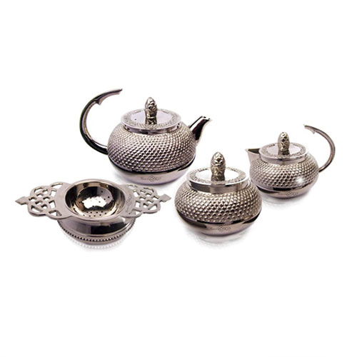 Sanjeev Kapoor Set of 4 Pcs SS Tea Pot Set