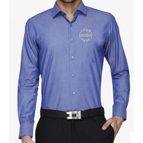 Personalized Embroidered Shirt Chambray