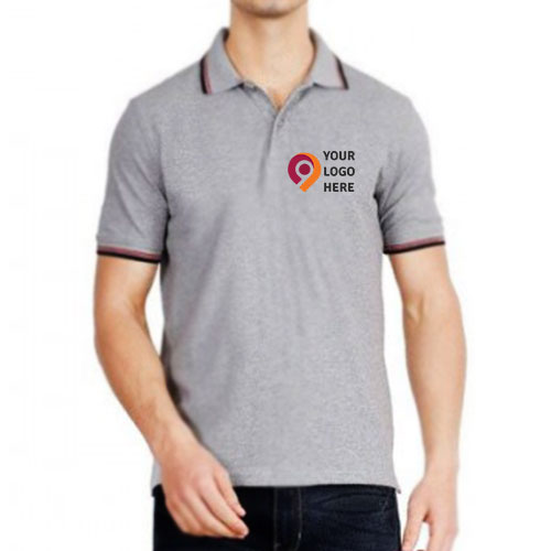 UCB Cotton Tipping Polo T-shirt Grey