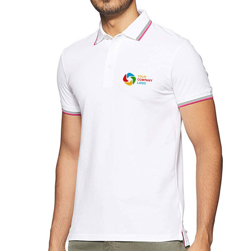 UCB Cotton Tipping Polo T-shirt White