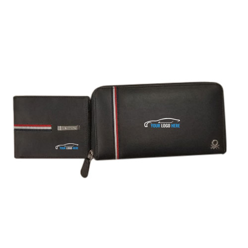UCB Men Women Wallet Combo Black