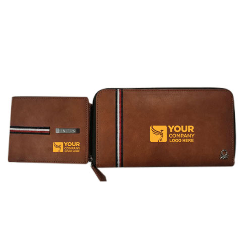 UCB Men Women Wallet Combo Brown