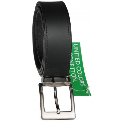 United Colors of Benetton Leather Belt Black