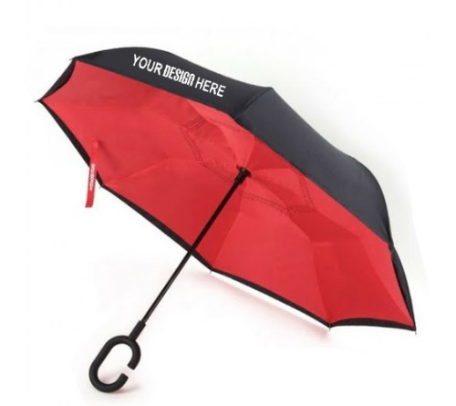 Inverted Umbrella with Hands free Handle