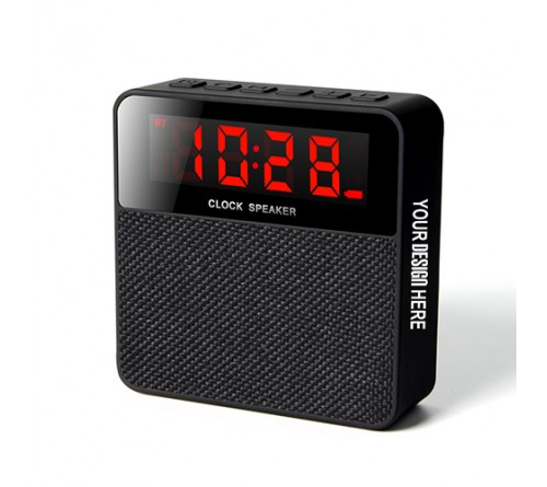 Personalized Printed Bing Bluetooth Speaker With Clock
